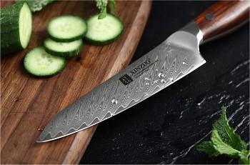"""Víceúčelový nůž 5.5"""" XINZUO 67 vrstev damaškové oceli"""