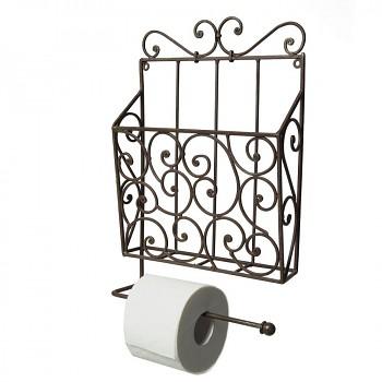 Kovový držák toaletního papíru se zásobníkem na časopisy