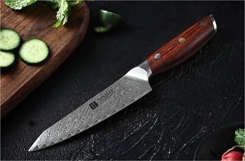 """Víceúčelový nůž nůž 5"""" XINZUO 67 vrstev damaškové oceli"""