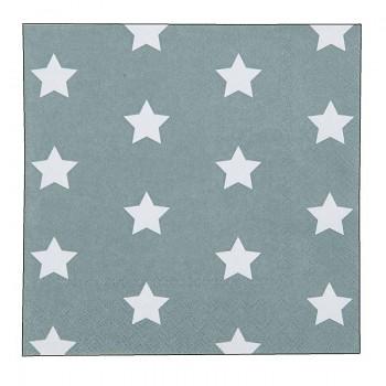 Papírové ubrousky CATCH A STAR green 33*33 cm (20 kusů)