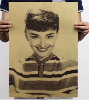 Plakát Audrey Hepburn 51,5x36cm Vintage č.18
