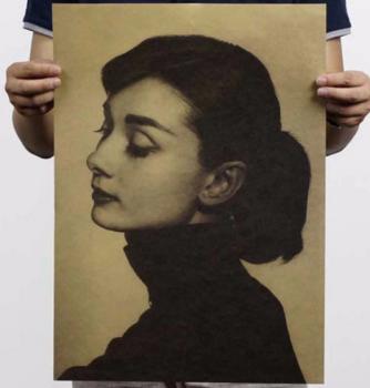 Plakát Audrey Hepburn 51,5x36cm Vintage č.19