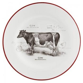 Keramický dezertní talíř COUNTRY SIDE ANIMAL COW