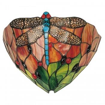 Nástěnná lampa Tiffany Dragonfly