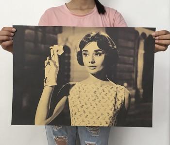 Plakát Audrey Hepburn 51,5x36cm Vintage č.81