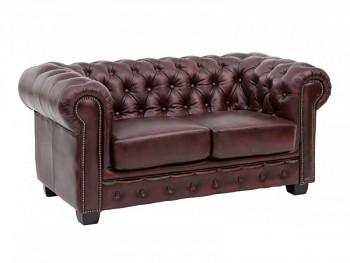 Kožená sedačka 2 sedák Chesterfield Newcastle