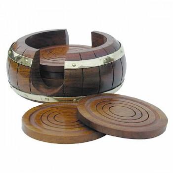 Dřevěné podložky pod skleničku nebo hrnek 6ks