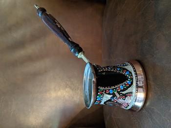 Ručně zdobená džezva na tureckou kávu 200 ml