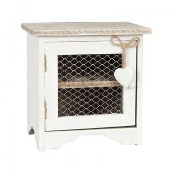 Dřevěná skříňka na vajíčka bílá
