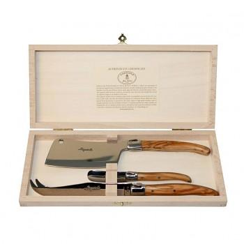 Sada nožů na sýr, 3 dílná Laguiole Jean Dubost