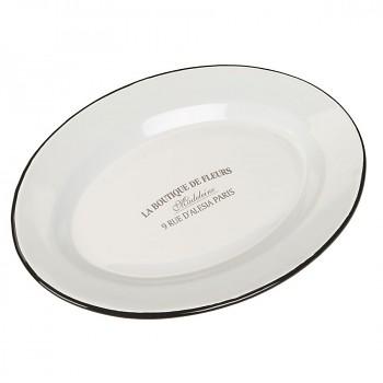 Smaltovaný servírovací talíř