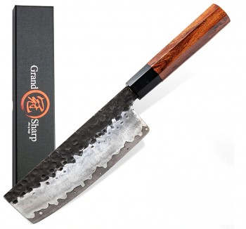 """Nůž Nakiri 6.7"""" GRAND SHARP vysoce uhlíková ocel"""