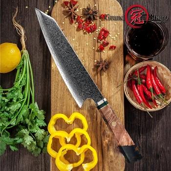 "Nůž Kiritsuke 8.2"" GRAND SHARP 67 vsrtev damaškové oceli"
