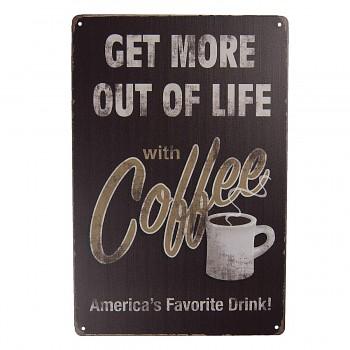 Plechová cedule COFFEE FAVORITE DRINK
