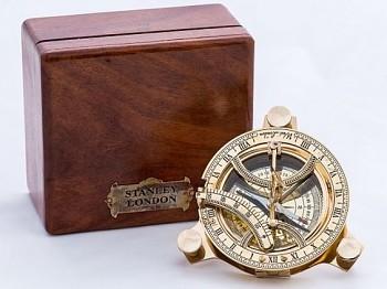 Mosazný kompas Stanley London, bez skla