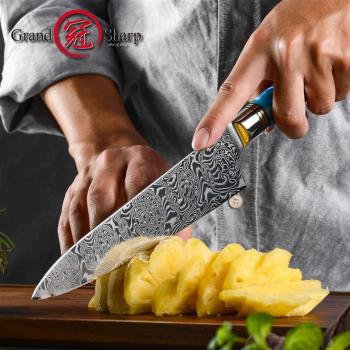 "Šéfkuchařský nůž 7.5"" GRAND SHARP 110 vrstev damaškové oceli"