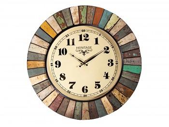 Nástěnné hodiny z recyklovaného dřeva 60 cm
