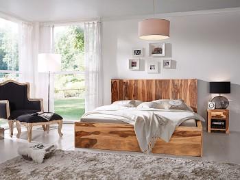 Přírodní dřevěná postel Palison