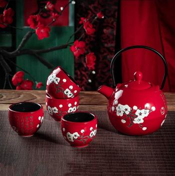 Čajová sada 4+1 čínského porcelánu