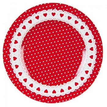 Dezertní talíř Dots & hearts