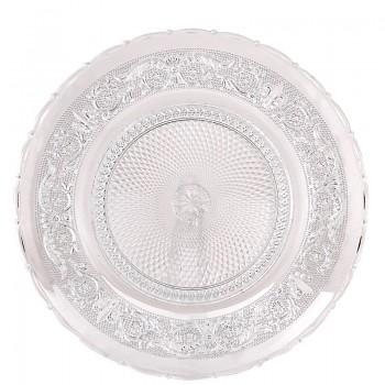 Skleněný talíř na cukroví nebo dort