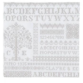 Papírové ubrousky Cross stitched pattern 33*33 cm (20 kusů)