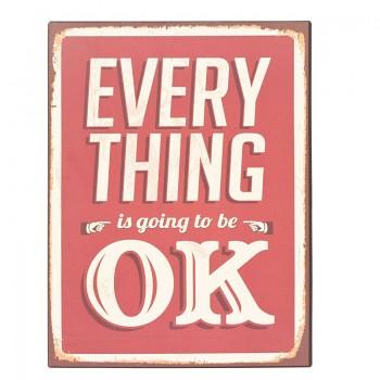 Plechová cedule EVERYTHING OK