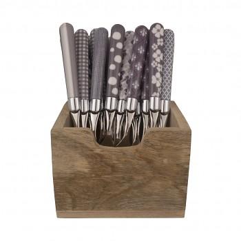 mix 24 kusů nože světle šedá Couvert  la carte
