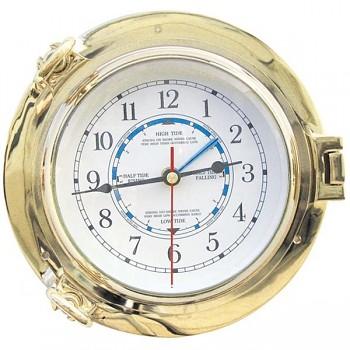 Mosazné námořní hodiny s měřením přílivu a odlivu Venezia