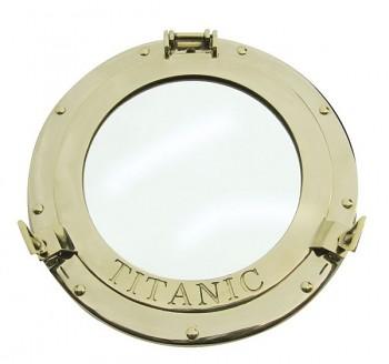 Kruhové zrcadlo Titanic leštěná mosaz