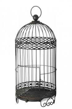 Ptačí klec kovová tmavá