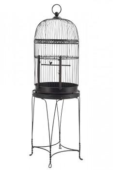 Ptačí klec na stolku