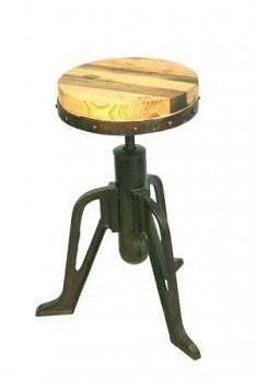 Otočná stolička z palisandrového dřeva a oceli