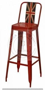 Kovová barová židle Old England