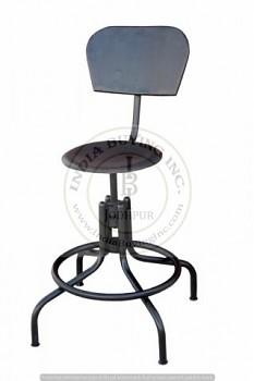 Barová stolička s opěrkou